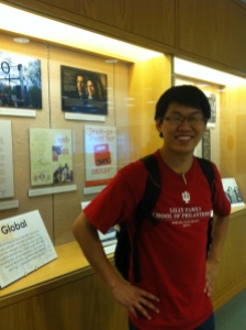 Daniel at the Library of philanthropy, IUPUI