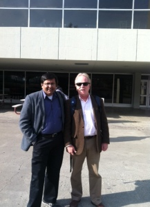 Pankaj Rishi Kumar with Dr. Peter Schmitthenner, Dept. of Religion and Culture, Virginia Tech