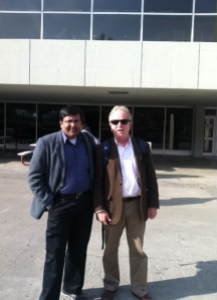Pankaj Rishi Kumar with Dr. Peter Schmitthenner, Dept. of Religion and Culture, Virginia Tech