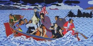 Shimomura Crossing the Delaware. Photo credit : rshim.com